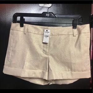 Express gold metallic shorts